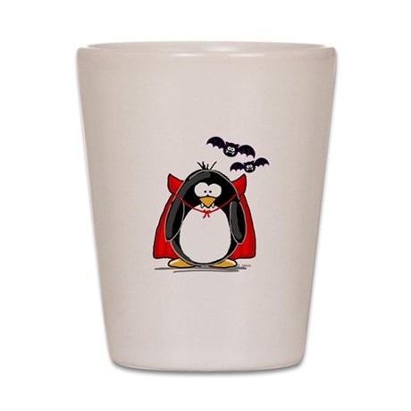Dracula Penguin Shot Glass