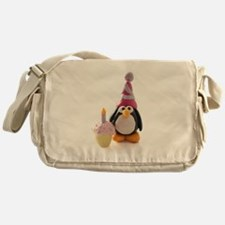 Birthday Penguin Messenger Bag