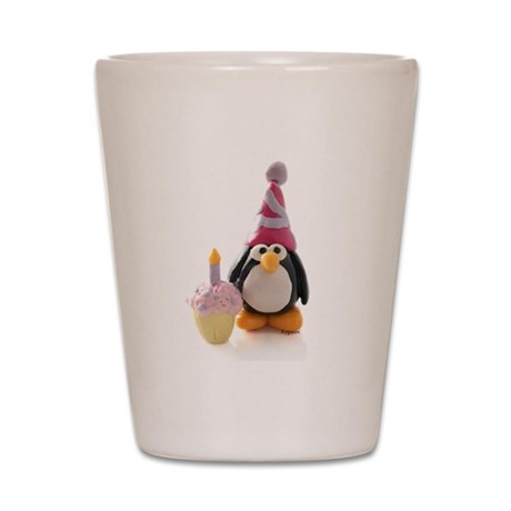 Birthday Penguin Shot Glass
