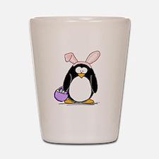 Easter penguin Shot Glass
