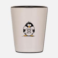 Pisces Penguin Shot Glass