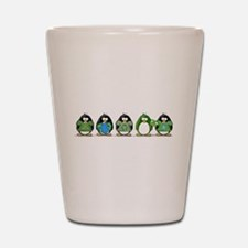 Eco-friendly Penguins Shot Glass