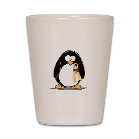 Support Troops Penguin Shot Glass