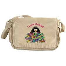 I Love Candy Penguin Messenger Bag
