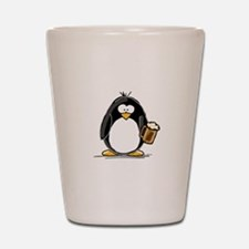 Beer Drinking Penguin Shot Glass