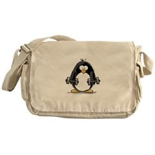 Weight lifting penguin 2 Messenger Bag