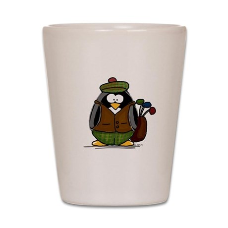 Golf Penguin Shot Glass