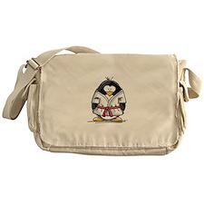 Martial Arts red belt penguin Messenger Bag