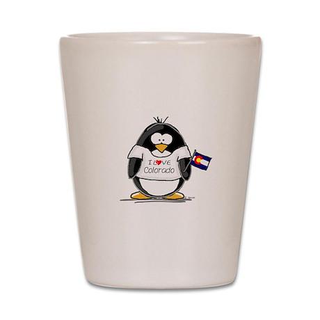 Colorado Penguin Shot Glass