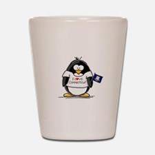 Connecticut Penguin Shot Glass