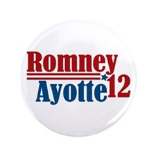"""Romney Ayotte 2012 3.5"""" Button"""