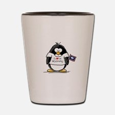 Wyoming Penguin Shot Glass