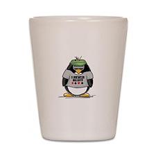 Poker Penguin Shot Glass