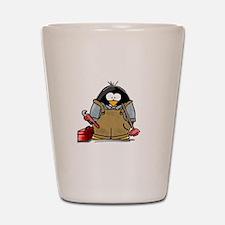 Plumber Penguin Shot Glass