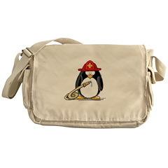 Fireman penguin Messenger Bag