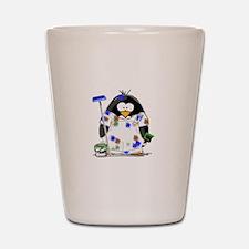 Painter Penguin Shot Glass