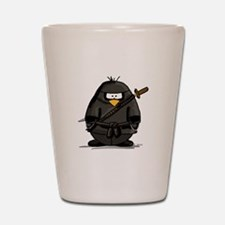 Martial Arts ninja penguin Shot Glass
