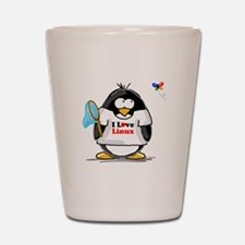 linux Penguin Shot Glass