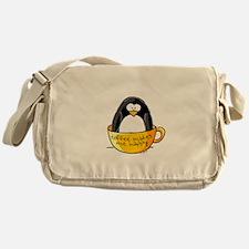 Coffee penguin Messenger Bag