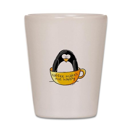Coffee penguin Shot Glass