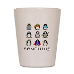 9 Penguins Shot Glass