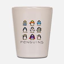 9 Penguins Shot Glass