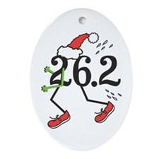 Holiday 26.2 Marathoner Ornament (Oval)