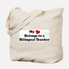 Heart Belongs: Bilingual Teac Tote Bag