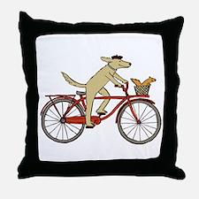 Dog & Squirrel Throw Pillow