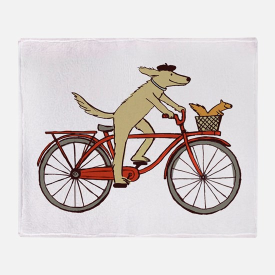 Dog & Squirrel Throw Blanket