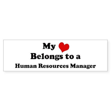 Heart Belongs: Human Resource Bumper Sticker