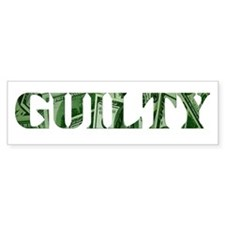 Guilty Bumper Stickers