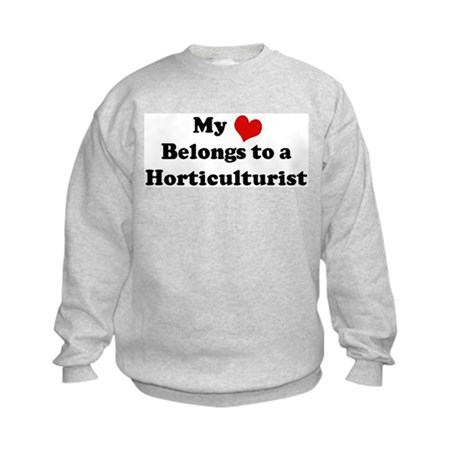Heart Belongs: Horticulturist Kids Sweatshirt