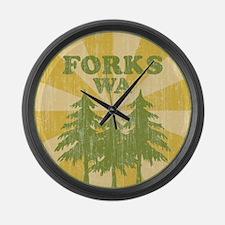 Forks, WA Large Wall Clock