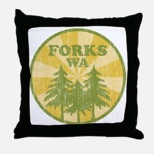 Forks, WA Throw Pillow