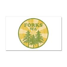 Forks, WA Car Magnet 20 x 12