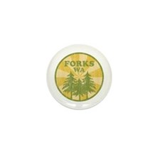 Forks, WA Mini Button (10 pack)