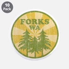 "Forks, WA 3.5"" Button (10 pack)"