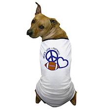 Peace, Love & Football Dog T-Shirt