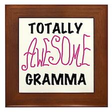 Pink Awesome Gramma Framed Tile