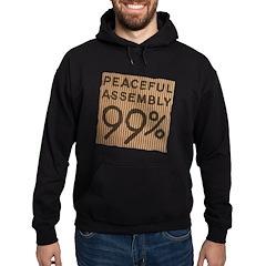 peaceful 99% cardboard Hoodie