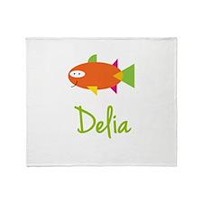 Delia is a Big Fish Throw Blanket