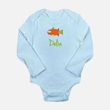 Delia is a Big Fish Onesie Romper Suit