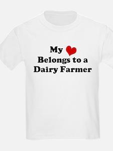 Heart Belongs: Dairy Farmer Kids T-Shirt