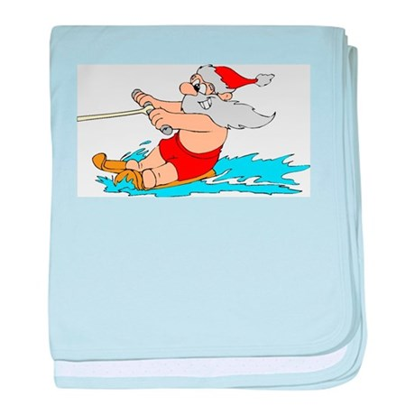 Waterski Santa baby blanket