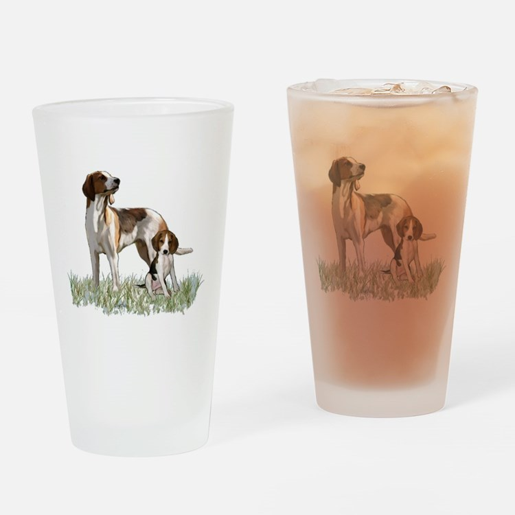 walker coon Hound Drinking Glass
