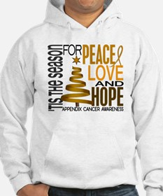 Christmas 1 Appendix Cancer Hoodie