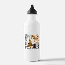Christmas 1 Appendix Cancer Water Bottle