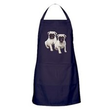 Pugs sitting Apron (dark)