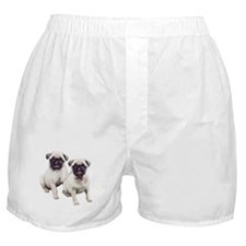 Pugs sitting Boxer Shorts